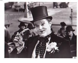 Jack Nicholson Signed Autographed Batman Joker Photo