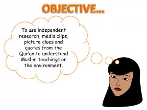 To use independent research, media clips, picture clues and quotes ...