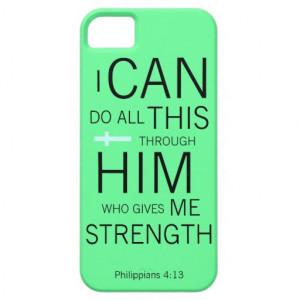 Philippians 4:13 iPhone 5 case