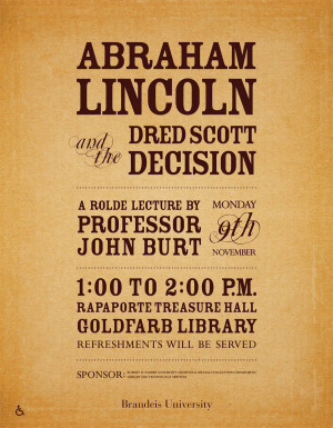 Abraham Lincoln and the Dred Scott Decision flier