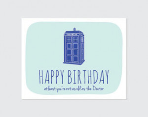 Doctor Who Birthday Card // Funny Birthday Card // Geeky Birthday ...