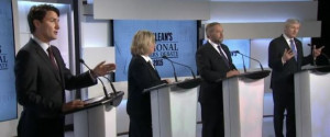... faced off on Thursday night at the Maclean's debate. | Screengrab