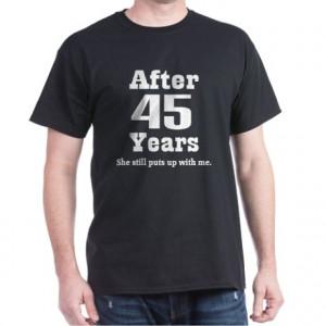 ... 45 year anniversary tops 40th anniversary funny quote dark t shirt
