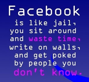 Funny Facebook Status Quotes Sayings Is Like Jail You Sit Comment ...