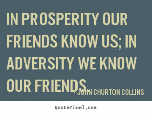 John Churton Collins Friendship Quote Art