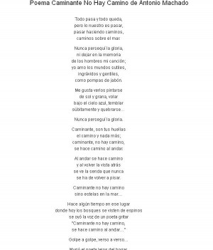 Antonio Machado fue un poeta español y este poema fue incluido en ...