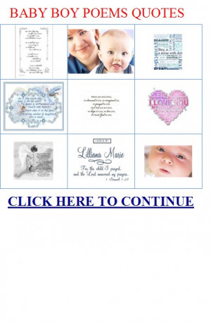 Love You Baby Boy Poems Quotes