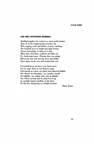Baseball Love Poems Subscribe to poetry magazine