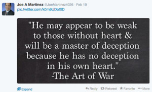 Joe Martinez consults 'Art of War' for Congressional campaign