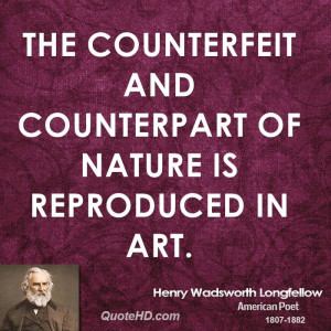 Henry Wadsworth Longfellow Nature Quotes