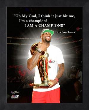 Miami Heat LeBron James Champion Framed Pro Quote