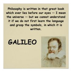Math Quotes Galileo | Galileo quote posters More