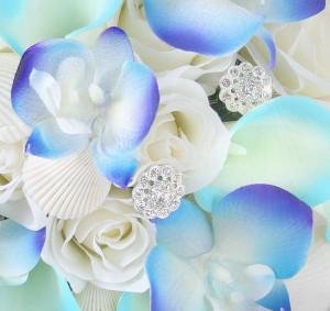 Blue Orchids Wedding Flowers