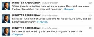 Farrakhan Hints At Violence In Retaliation For Trayvon Martin Killing ...