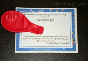 Add A Pinch Of Sparkle: Come Follow Me March: Grudges: Let Them Go!