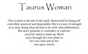 taurus woman.. that's me