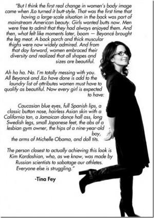 tina fey body image quote