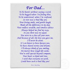 Father Dad Poems Daughters Son on Fathers Day Step Dads Daddy