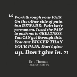 Eric Thomas Quotes Is a reward - eric thomas.