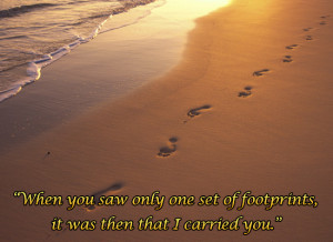 Story of Footprints in the Sand ( and other poem )