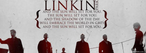 linkin park music quote facebook cover