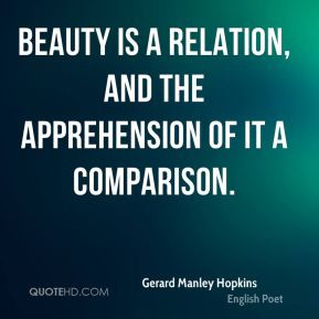 Gerard Manley Hopkins - Beauty is a relation, and the apprehension of ...