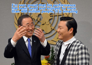 Psy and Ban Ki-moon, a mutual admiration told in photos