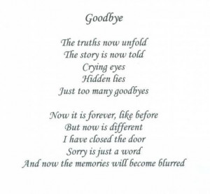 Love quotes saying goodbye