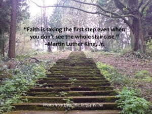 Quote Martin Luther King, Jr take the first step