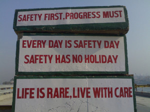 Safety Quotes on BWSL construction site