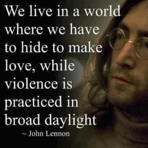 Hippie quotes, best, positive, sayings, john lennon