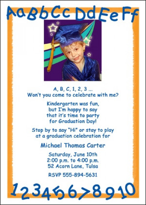 Photo Kindergarten Graduation Announcement