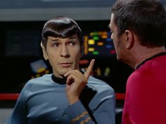 Spock says that for Scotty to