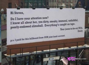 Woman buys giant billboard ad to blast cheating husband!