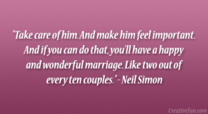 Quotes About Wanting Him Neil simon quote