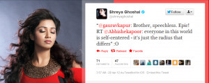 Apparently, Shreya Ghoshal likes it too. Click here .