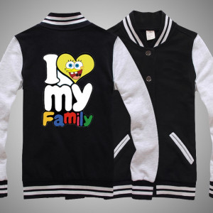 Despicable me I LOVE MY FAMILY baseball sweatershirt detail :