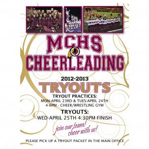 Cheerleading Tryouts Flyer
