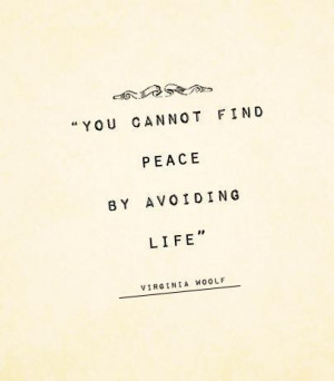 peace, quote, text, virginia woolf