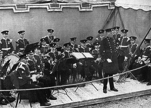 th Battalion Band The East Surrey Regiment (TA) playing before HM ...