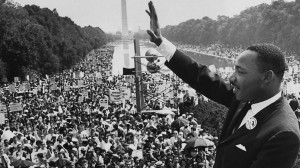 ... the crowd at the lincoln memorial for his i have a dream speech during