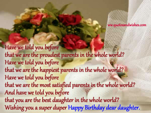 Happy Birthday Dear Daughter