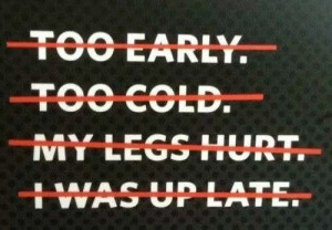 No excuses #workout