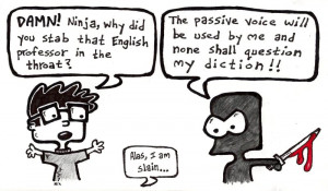 Speaking of ninjas and writing teachers, the ninja is this cartoon by ...