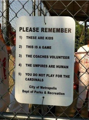 Softball Sign - Image