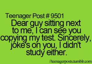 test #Copy #cheat #guy #class #study #school #relatable #teenagerpost