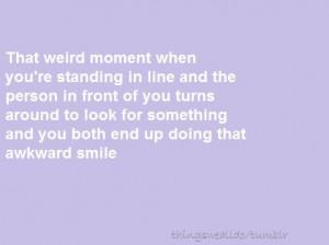 weird moment