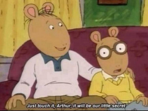 18. When Arthur was told something very disturbing: