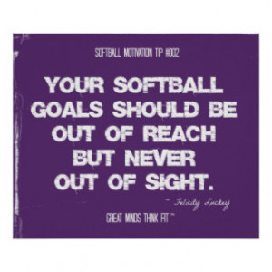 Softball Quotes in Threads 002 Posters