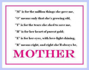 Quotes About Missing Your Mother